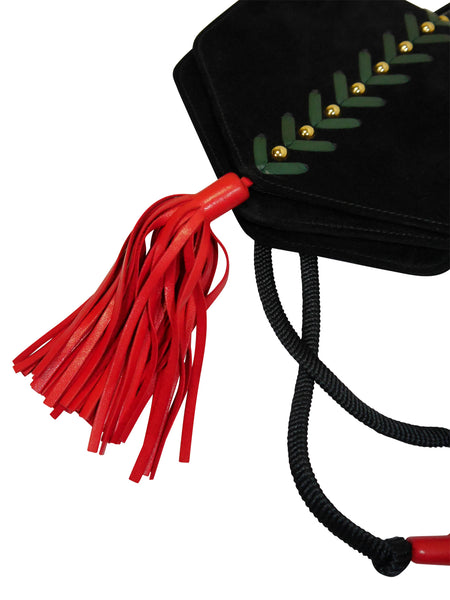 YVES SAINT LAURENT Vintage Suede Tassel Bag