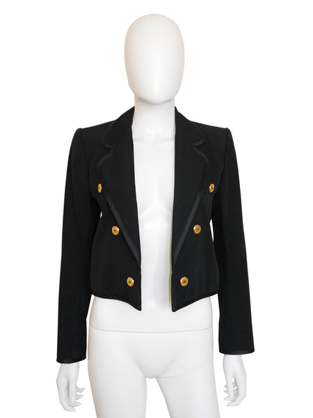 YVES SAINT LAURENT Documented 1979 Vintage Cropped Jacket XS-S