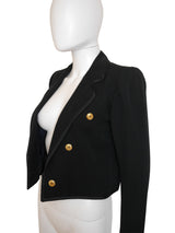 Sold - YVES SAINT LAURENT Documented 1979 Vintage Cropped Jacket XS-S