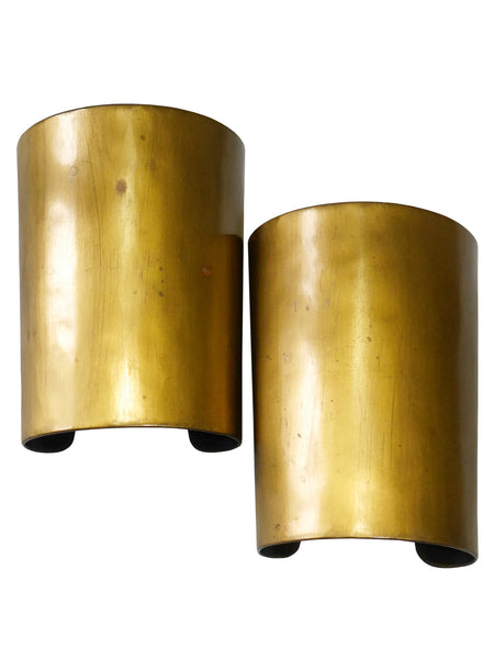 YVES SAINT LAURENT 1990s Vintage Wide Hammered Brass Cuffs