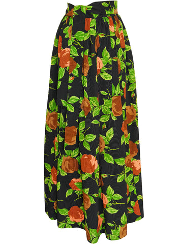 Sold - YVES SAINT LAURENT Vintage Moiré Maxi Evening Skirt Size XS-S