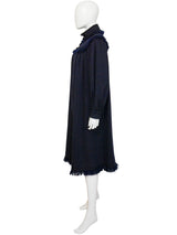 Sold - YVES SAINT LAURENT 1970s 1980s Russian Collection Era Fringed Wool Cape Coat Size XS-S