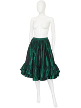 YVES SAINT LAURENT Fall 1982 Vintage Silk Taffeta Evening Skirt Size S