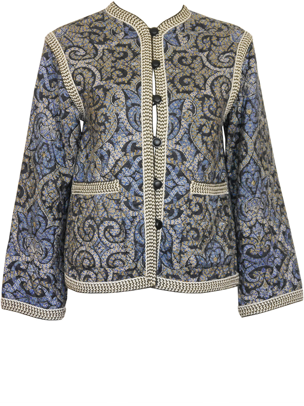 Sold - YVES SAINT LAURENT Vintage S/S 1977 Quilted Silk Evening Jacket Size XS