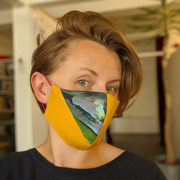 Accent Cotton Face Mask - Mustard