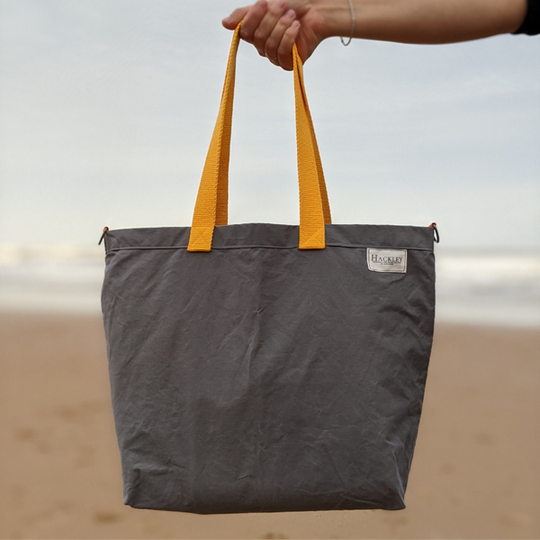 Wax Cotton Shopper - Grey