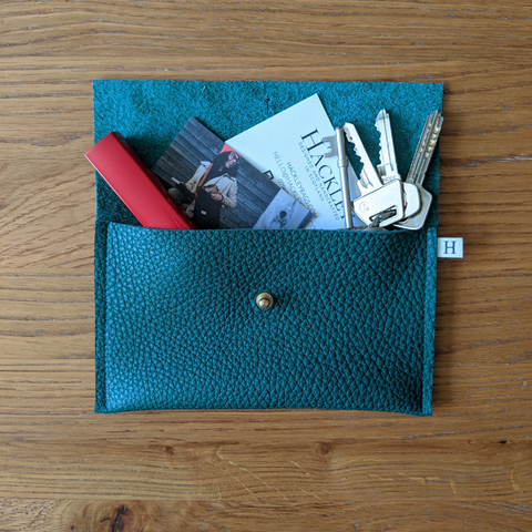 Leather Purse - Dark Green