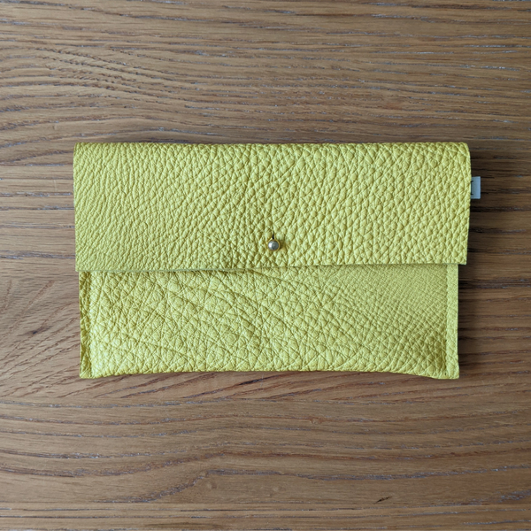 Leather Purse - Yellow