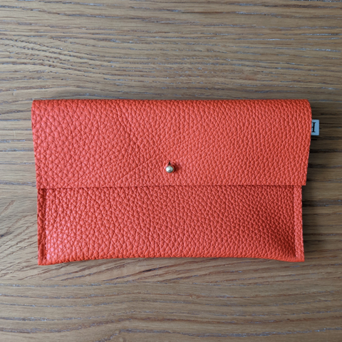Leather Purse - Orange