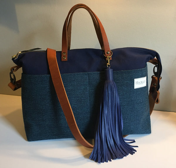 Limited Edition Blue Top Zip Messenger