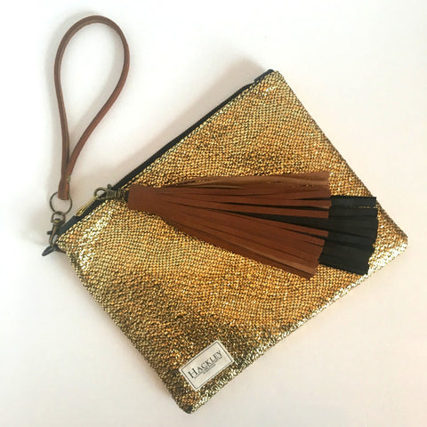 Limited Edition Gold Clutch *NO TASSEL*