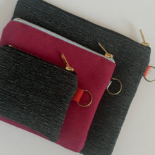 Charcoal Large Wristlet Pouch