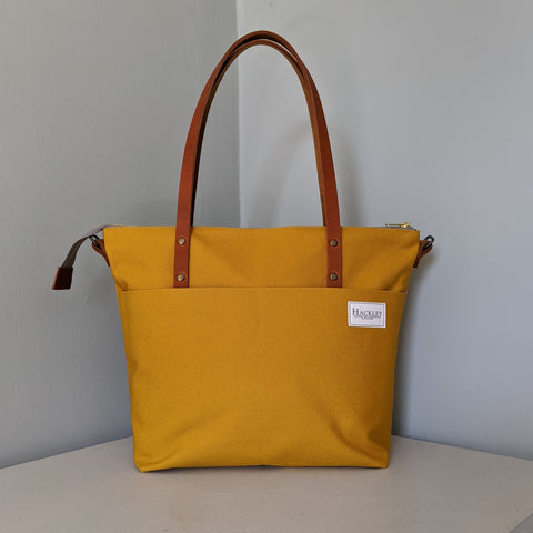 Zip top Shopper - Mustard