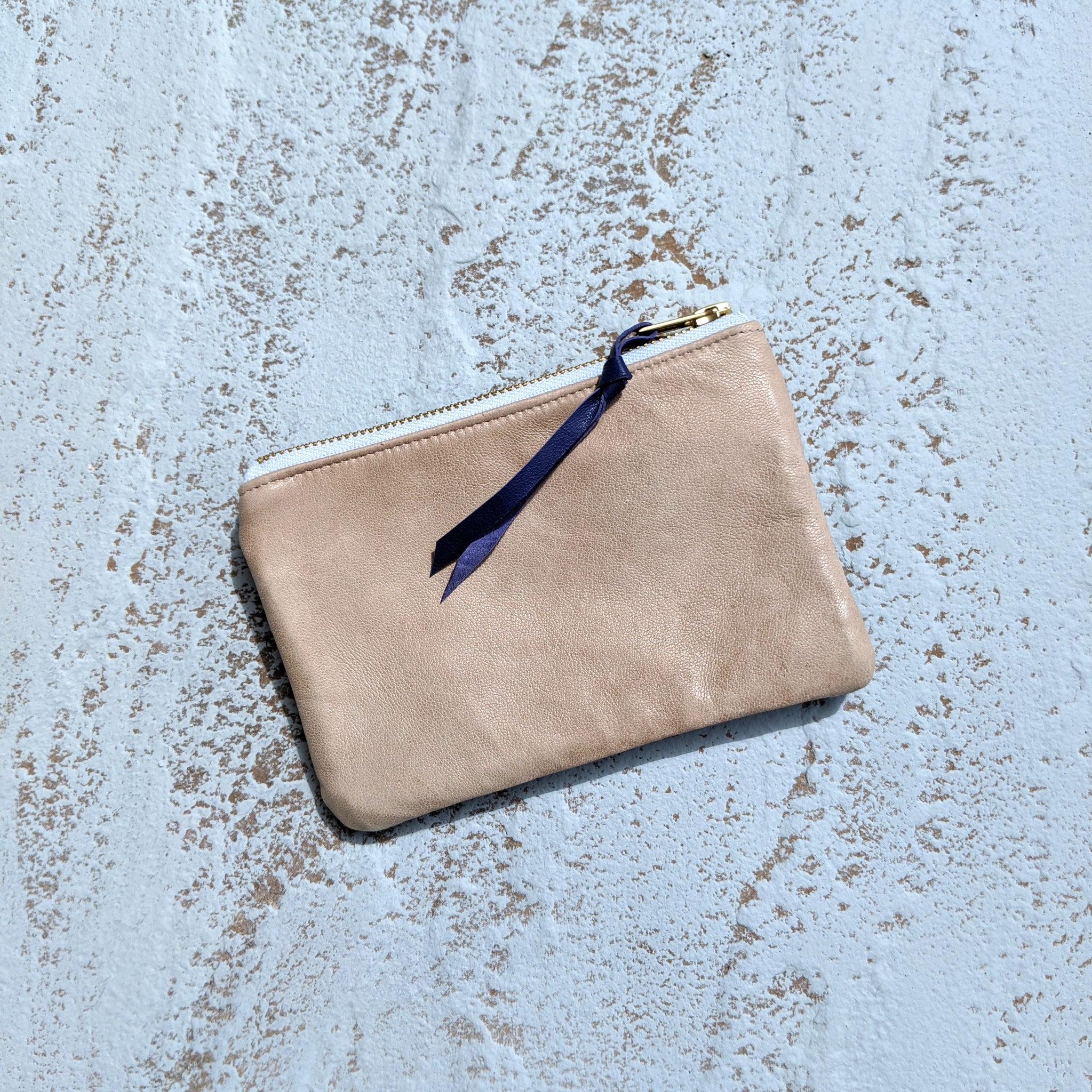 Large Coin Purse  - Taupe & Grey