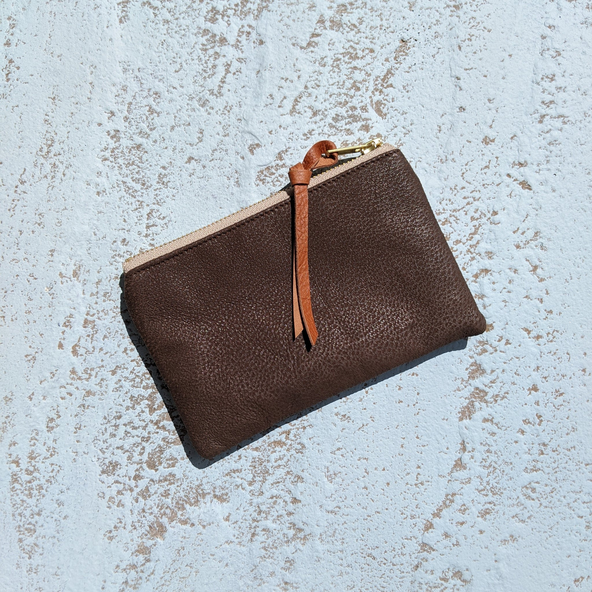 Large Coin Purse  - Brown Leather