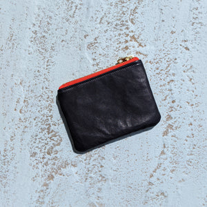 Leather and Fabric  Coin purse