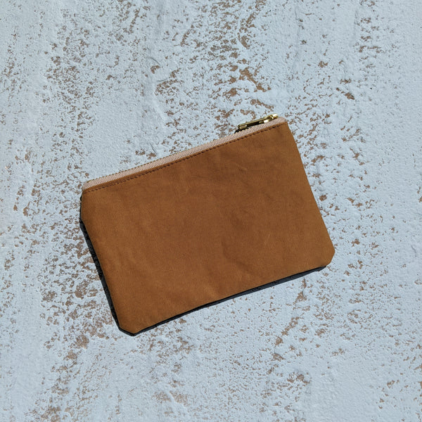 Large Coin Purse  - Navy & Tan