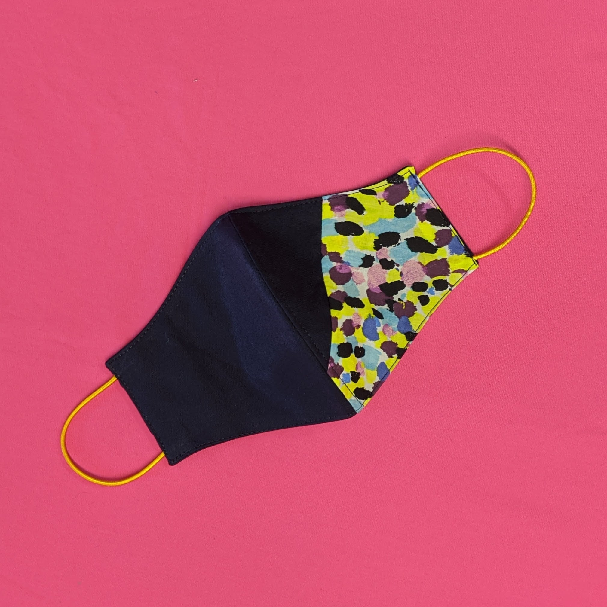 LIMITED EDITION Accent Cotton Face Mask - Navy