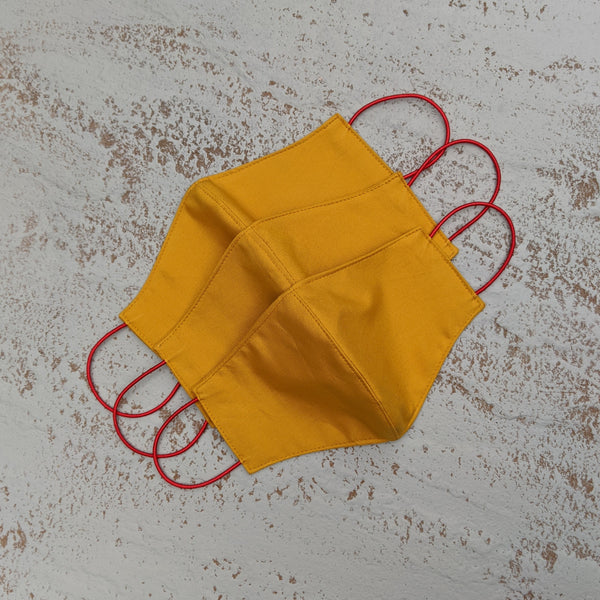 Cotton Face Mask - Mustard
