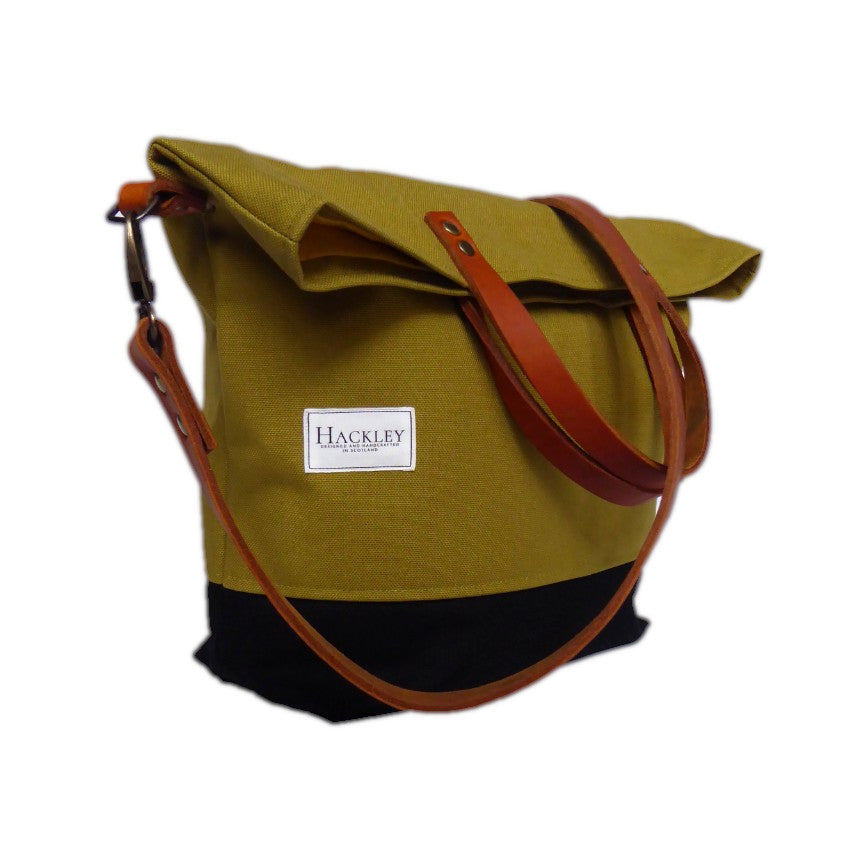Bucket Tote - Olive Green & Black