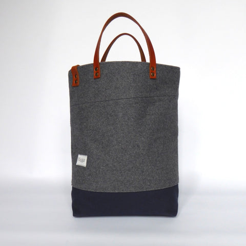 Limited Edition Grey Wool Bucket Tote