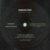 DJ Emerson ‎– Repetitive Music 1 - Micro.fon ‎– MF050