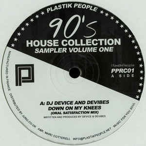 Various ‎– 90's House Collection Sampler Volume One - Plastik People Recordings ‎– PPRC01