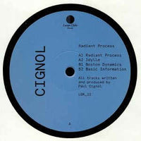Cignol ‎– Radiant Process - Lunar Disko Records ‎– LDR_22
