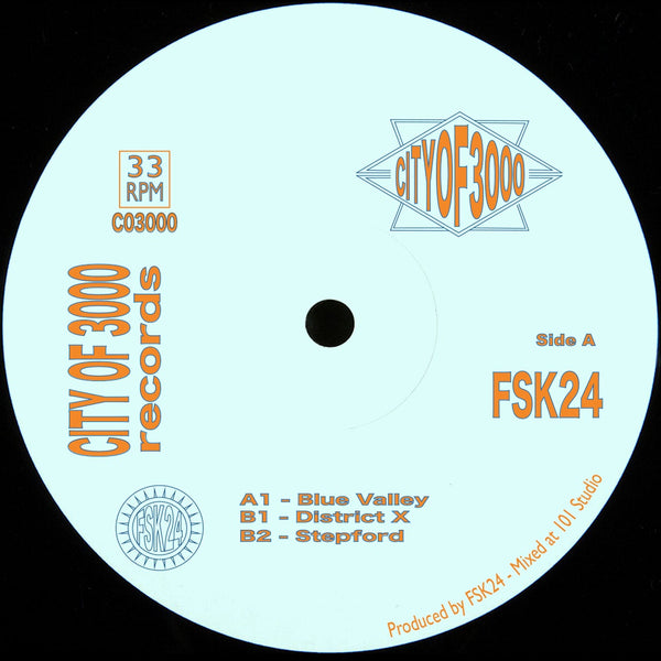 FSK24 ‎– Blue Valley EP - City Of 3000 Records ‎– CO3000