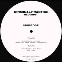 Various ‎– Crime002 - Criminal Practice Records ‎– CRIME 002