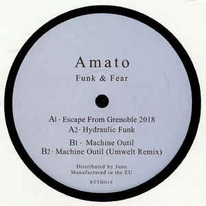 Amato ‎– Funk & Fear - Return To Disorder ‎– RTTD 014