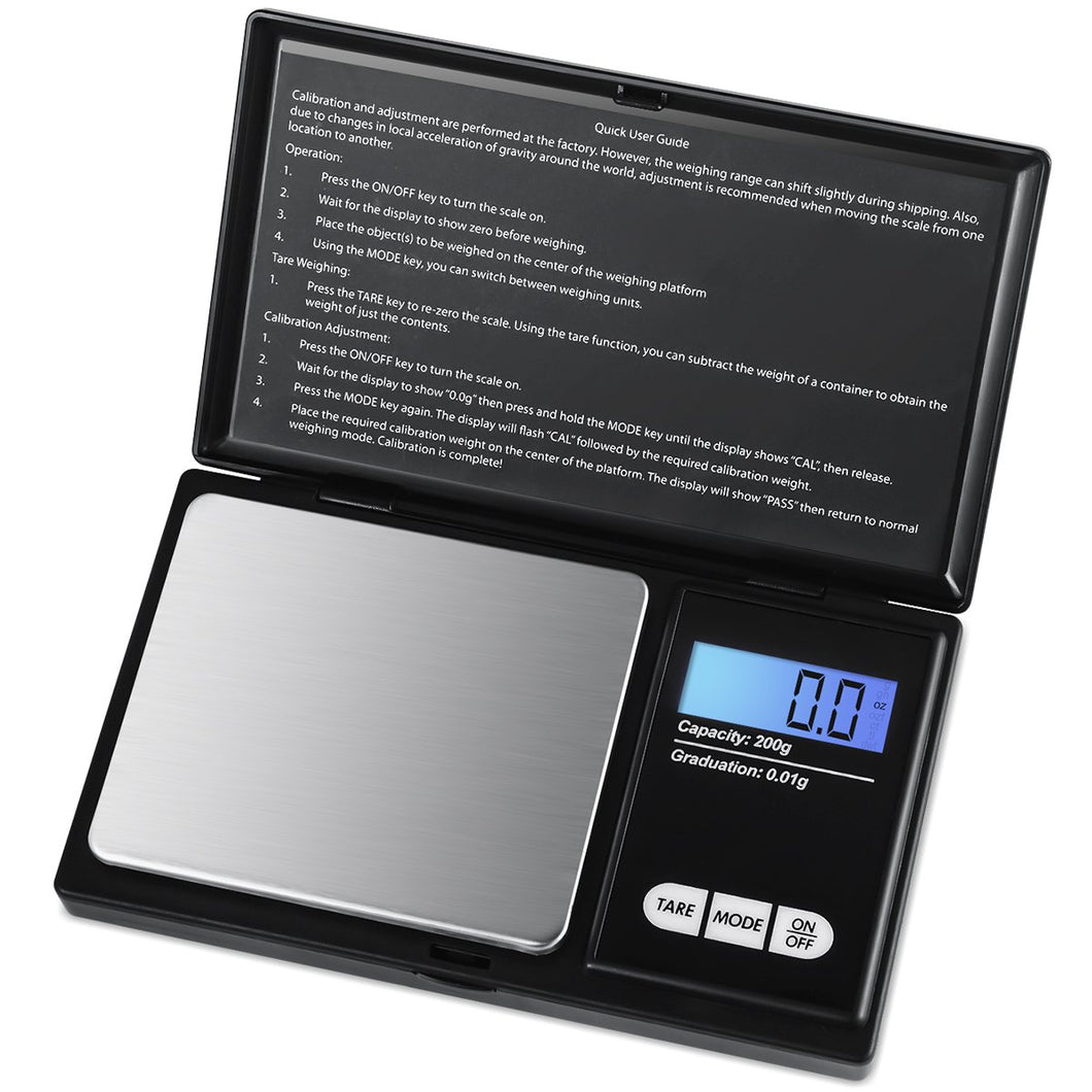 Compact Scales for the lab:  200 g with 0.01 g resolution