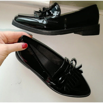 Women Derby Leather Brand Oxfords