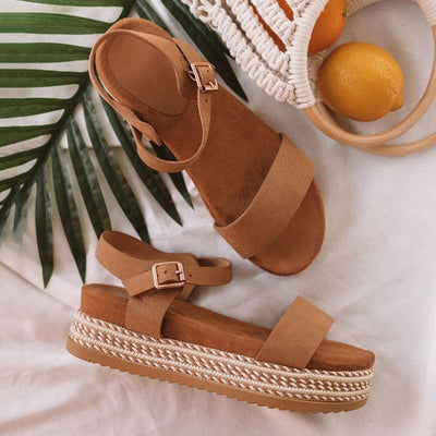 Thick Bottom Ladies Sandals Peep Toe Beach