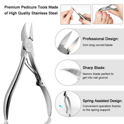 2/6pcs Set Cuticle Remover Kit