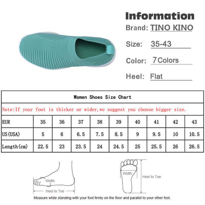 Women's Sneakers Flat Knitting Autumn