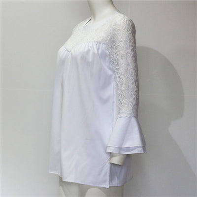 Fashion Lace Chiffon Blouse Summer