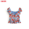 women floral slim blouse 2019 vintage fashion v neck