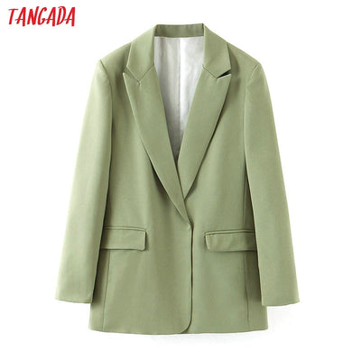 long sleeve notched collar suit blazer elegant ladies work tops SL503