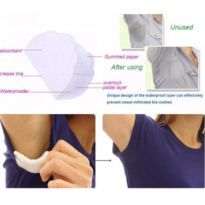 New 50PCS Disposable Underarm Sweat Guard Pads Armpit