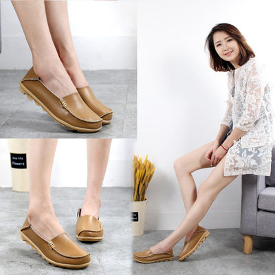 Flat Shoes Women Genuine Leather Loafers