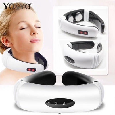 Electric Pulse Back and Neck Massager Far Infrared Heating Pain Relief