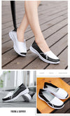 High Quality Women Shoes Genuine Leather Slip On Flats Shoes
