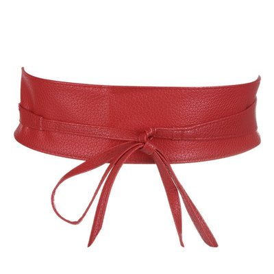 Belts PU Leather Waist Lace Up Wide