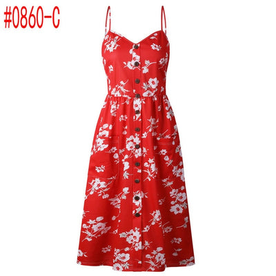 Summer Women Dress 2019 Vintage Sexy Ali9