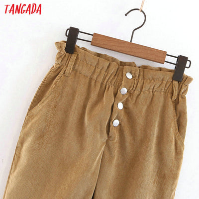 trousers corduroy women vintage high waist