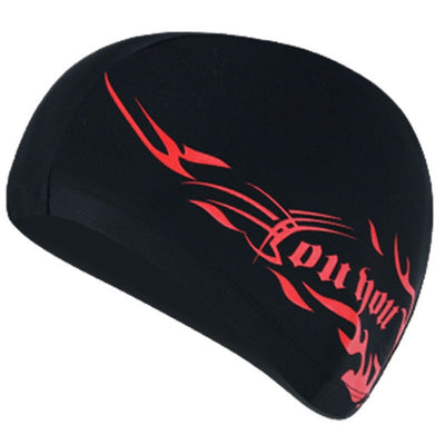 Hot Women's Men's Bathing Swimming Caps Spandex Waterproof Elastic Adult Black