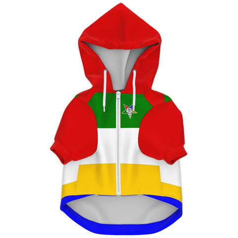 Image of Order of the Eastern Star Fashion Dog Zip-Up Hoodie