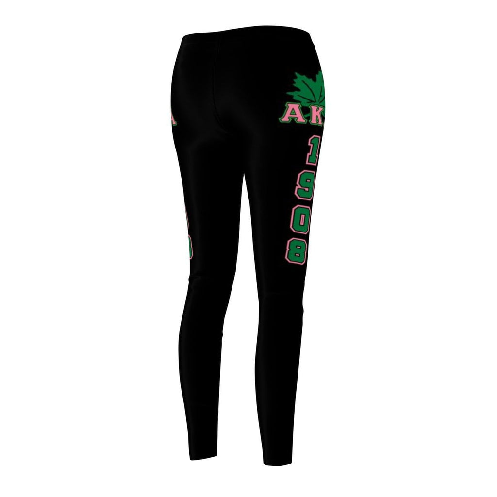 Alpha Kappa Alpha FOUNDING YEAR Women's Cut & Sew Casual Leggings - Unique Greek Store