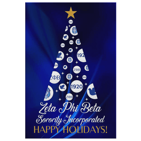 Zeta Phi Beta Christmas Wall Canvas - Unique Greek Store
